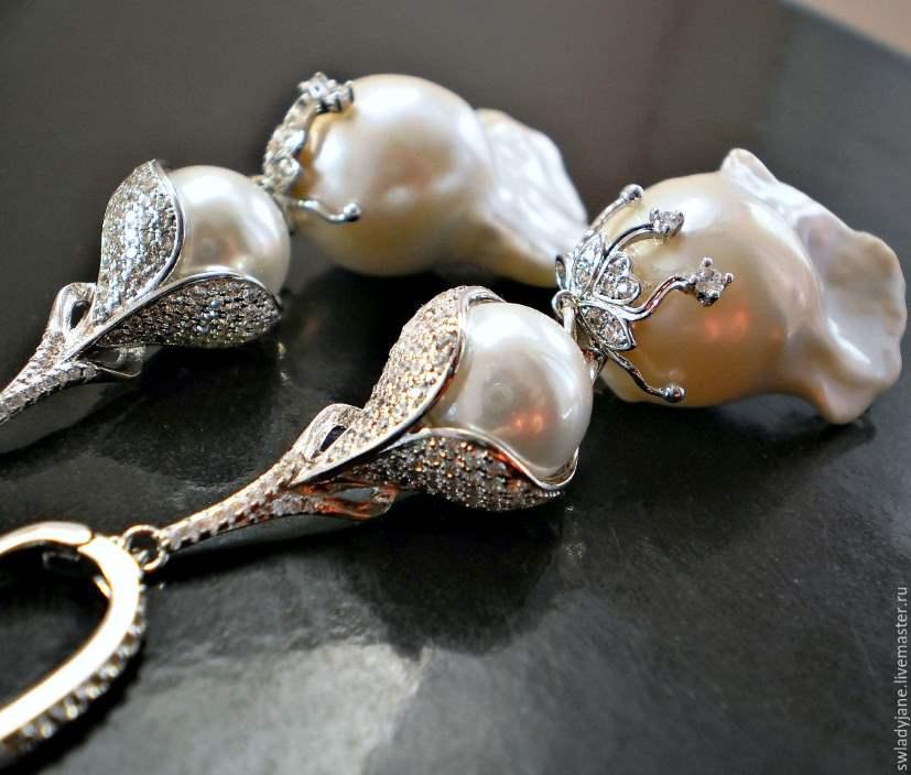 Ювелирные украшения из необычного барочного жемчуга