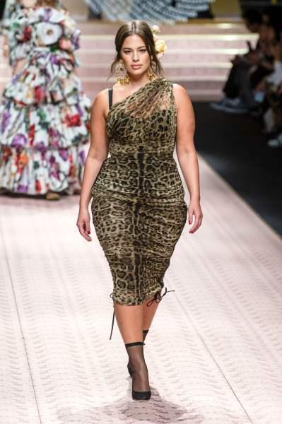 Леопардовое платье от Dolce&Gabbana