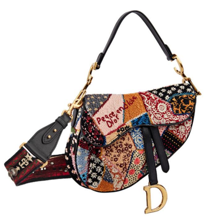 """Популярные сумки Dior. Расшитая сумка """"Saddle""""с Круизного показа весна-лето 2019"""