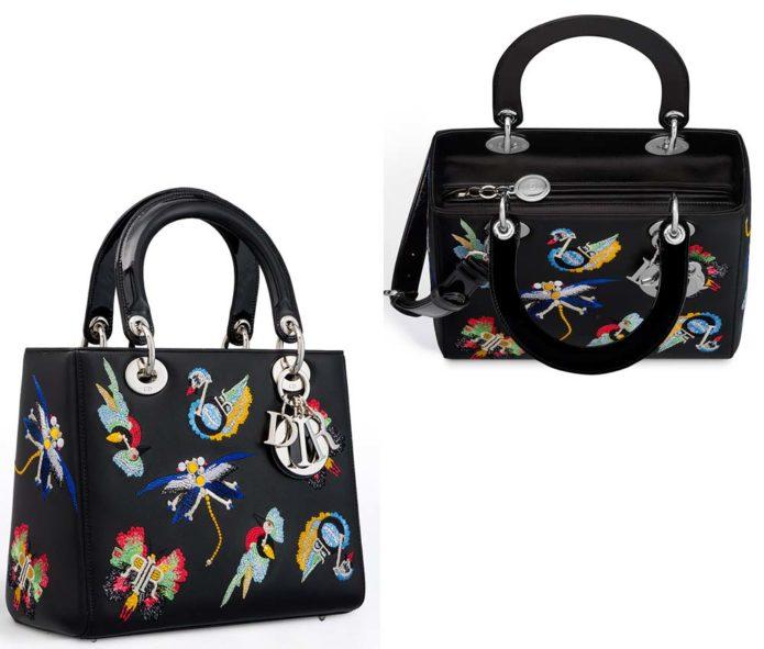 "Популярная сумка ""Lady Dior"" с вышивкой"