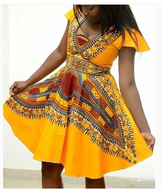 Модные новинки лета 2019. Африканское платье