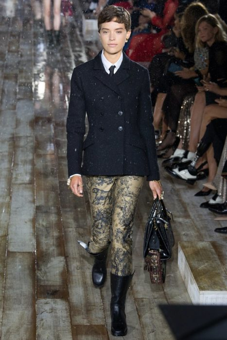 """Классический пиджак """"Bar"""" и брюки с фирменным узором Dior """"туаль-де-жуи"""""""